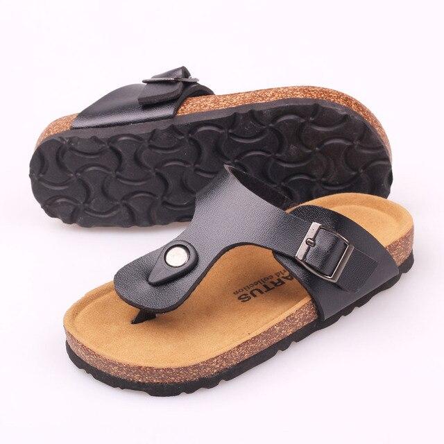 0ca3d532218b86 Summer New Influx of Boys and Girls Shoes Sandals Korean Version Paternity  Cork Shoe Burst Models Boys Slippers Girls Flip-Flops