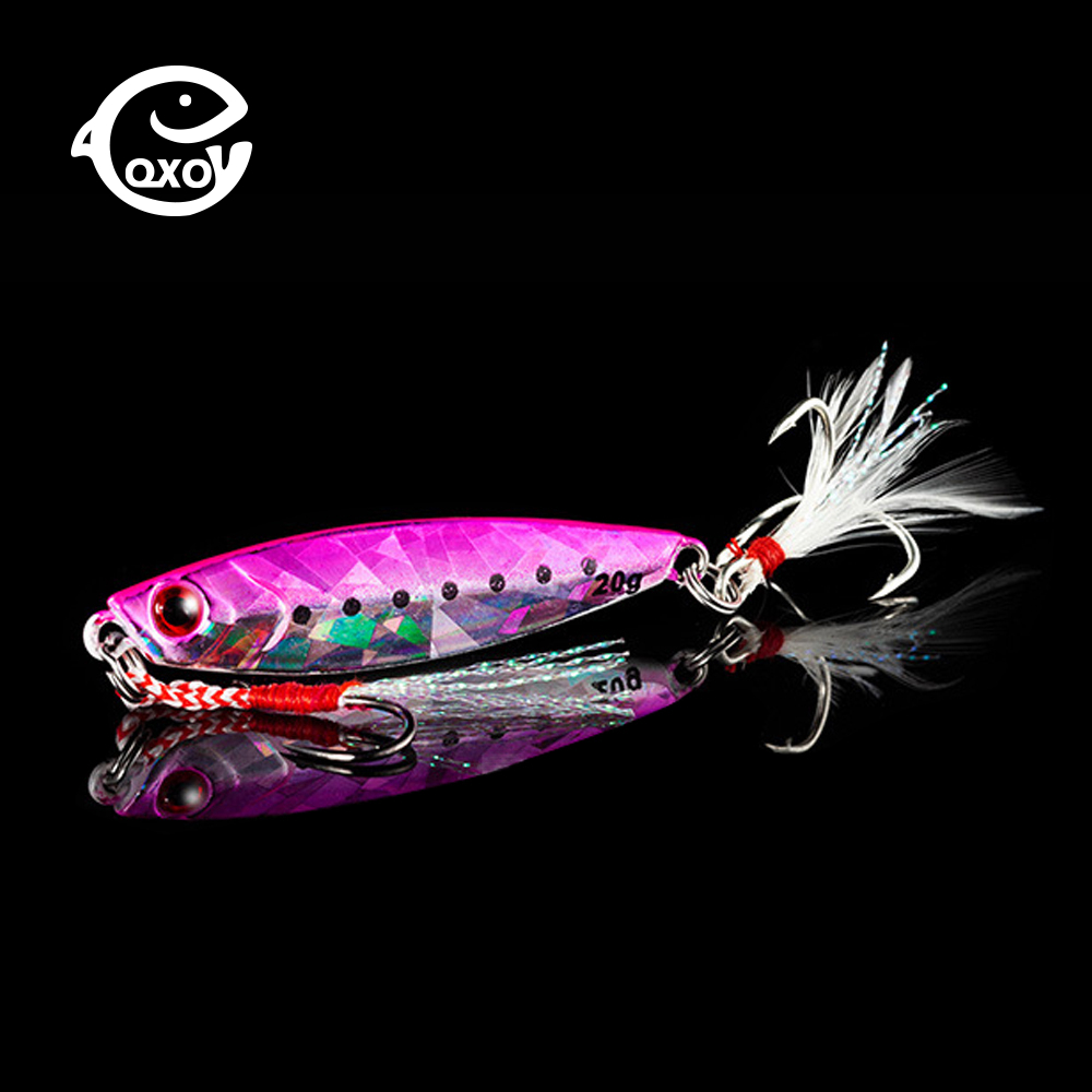 QXO Fishing Lure 10 20 30g Jig Light Silicone Bait Wobbler Spinners Spoon Bait Winter Sea Ice Minnow Tackle Squid Peche Octopus