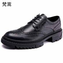 Мужские модельные туфли из натуральной воловьей кожи в деловом стиле; Высококачественная Мужская Роскошная обувь для отдыха в британском стиле в стиле ретро; Мужская Дизайнерская обувь