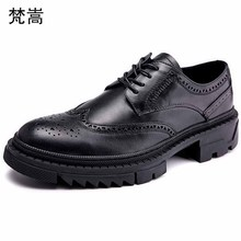 cowhide Genuine Leather business dress men shoes High Quality British retro leisure mens luxury designer