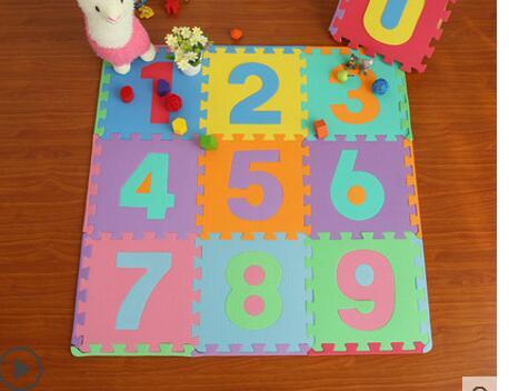 Tapis de bébé tapis en mousse 0-9 tapis de puzzle numérique tapis d'escalade bébé tapis de couture enfant tapis de jeu
