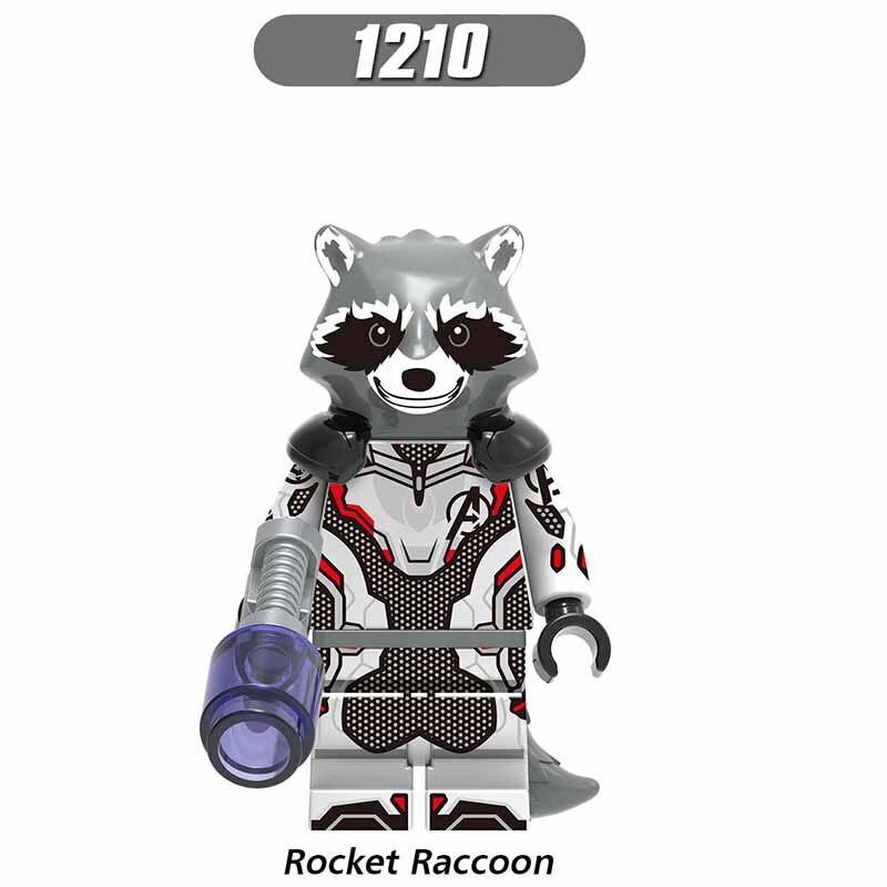 Single LegoINGlys Avengers 4 Super Heroes Rocket Raccoon Thor Iron Man Ant Man Figures Building Blocks Toys For Children Gift