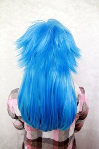 Image 5 - Dramatical Murder DMMD Seragaki Aoba Wig Ombre Blue Heat Resistant Synthetic Hair Cosplay Wigs + Wig Cap