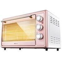 X36 30L розовая многофункциональная Автоматическая электрическая печь машина для выпечки Толстая нержавеющая сталь 4 независимая нагревател...
