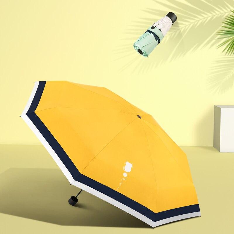 Gauche sont super léger parasol petit portable uv cinquante pour cent parapluies pliant parapluie parasol ombre poches