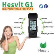 ใหม่2016เดิมhesvit g1 5โวลต์60มิลลิแอมป์ชั่วโมงs mart w atchบลูทูธ4.0 smart watchสร้อยข้อมือติดตามกิจกรรมสำหรับa ndroid iosคริสต์มาส
