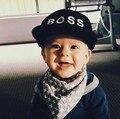 2016 Nueva Otoño Del Verano Del Sol Del Bebé Niños Niñas Bordado camiseta de Hiphop Sombreros del Snapback Gorras de Béisbol Niños Negro Rosa Color