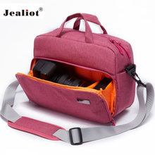 Jealiot DSLR SLR bag for the camera Bag shoulder Travel foto bag Photo lens case digital camera Women men waterproof for Canon(China)
