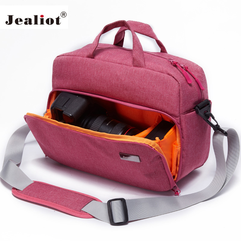 Jealiot DSLR SLR bag for the camera Bag shoulder Travel foto bag Photo lens case digital camera Women men waterproof for Canon camera video bag digital dslr slr bag men messenger bags small travel crossbody shoulder bag for man