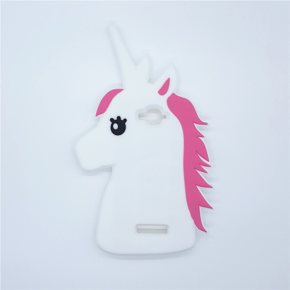 Galleria fotografica New Fashion 3D Cute Cartoon Unicorn Silicone Rubber Case Horse Cover For Alcatel One Touch Pop C7 OT 7040 7040D OT7040 7041D