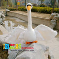 new big creative plush swan toy lovely white swan toy gift swan doll about 55cm