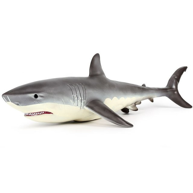 Большой Megalodon большая белая акула моделирование животных фигурка Модель Классические игрушки Рождественский подарок для детей мальчиков море животных модель