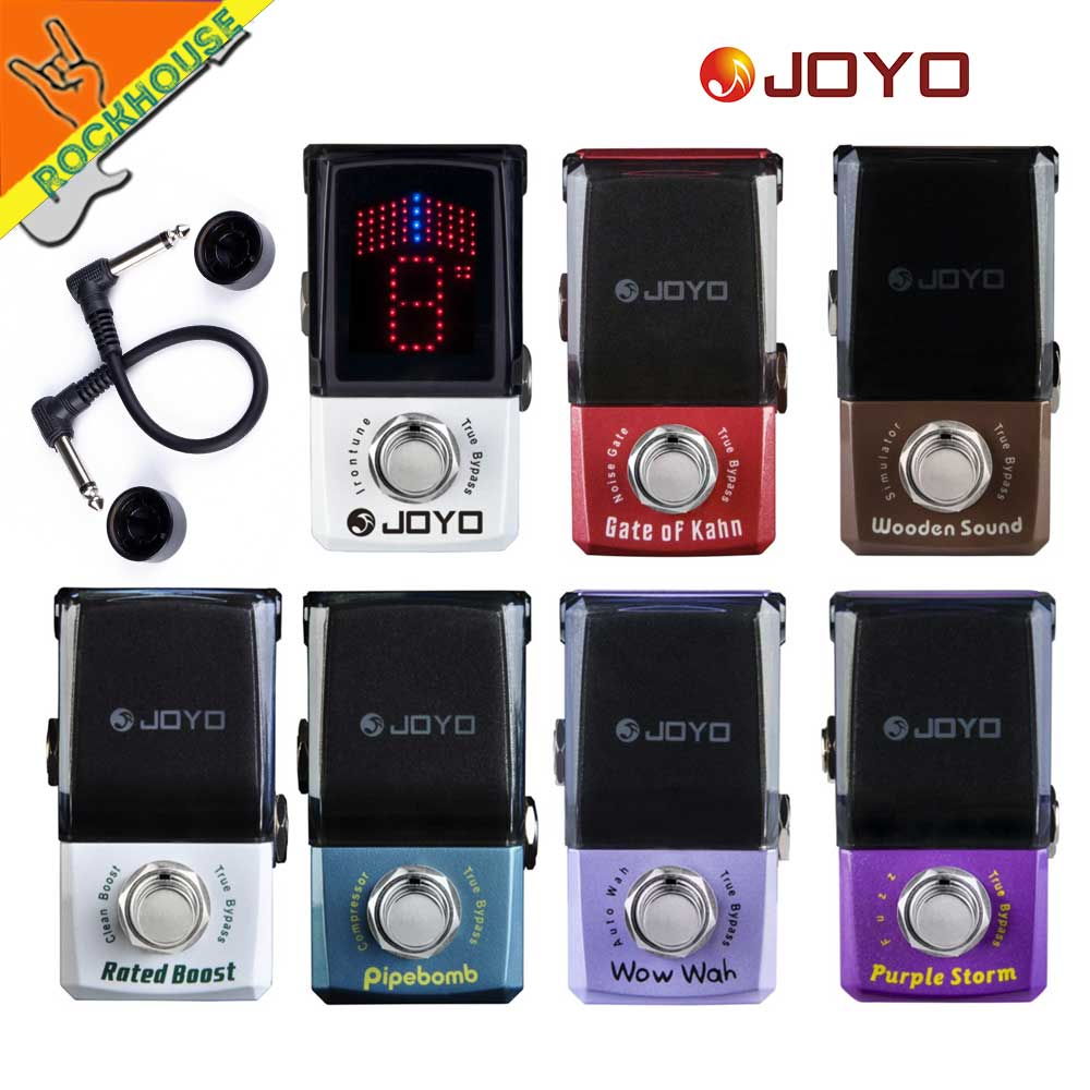 JOYO IRONMAN Guitar Effects Pedal Acoustic Gutiar Simulator Compressor Wah Wah Noise gate Pedal Tuner Analog Fuzz True Bypass image