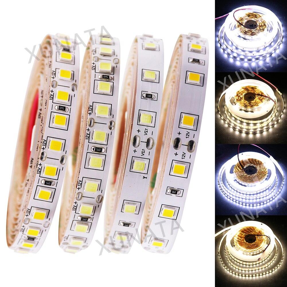 DC12V LED Strip 5050 5054 4040 5630 SMD 120LEDs/m 5m/lot super bright IP20 Flexibe strip LED light 60Leds Warm white/Cold white wholesale 100sets lot led strip set smd 5630 60leds m flexible led light power adapter best quality