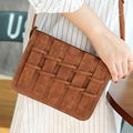 New Fashion Small Flap Knitting Messenger Bag Fence Weave Shoulder Crossbody Bag Ladies Leather Clutch Coin Purse And Handbag