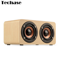 Techase Wooden Altavoz Bluetooth Wireless Speaker For Computer Mini Amplifiers Support TF Card 3.5MM AUX Altavoces Music Player