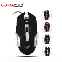 Wired Mouse USB Optical Gaming Mouse Gamer Mice For Laptop Computer Games With Adjustable DPI Without