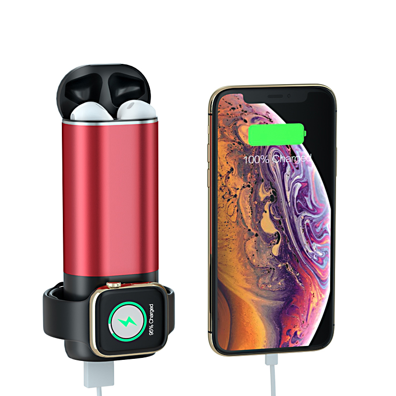 3 in 1 Wireless Charger Power Bank for iPhone X Xs 8 AirPods Apple Watch 4/3/2/1 5200mAh Powerbank Portable Mobile Phone Charger Power Bank Cellphones & Telecommunications - title=