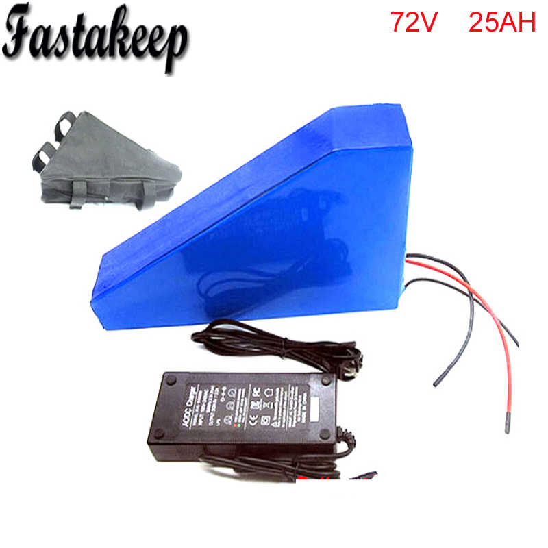 Triangle style ebike 72v battery electric bike battery 72V 25Ah,for bafang/8fun  3500W motor with PVC Case