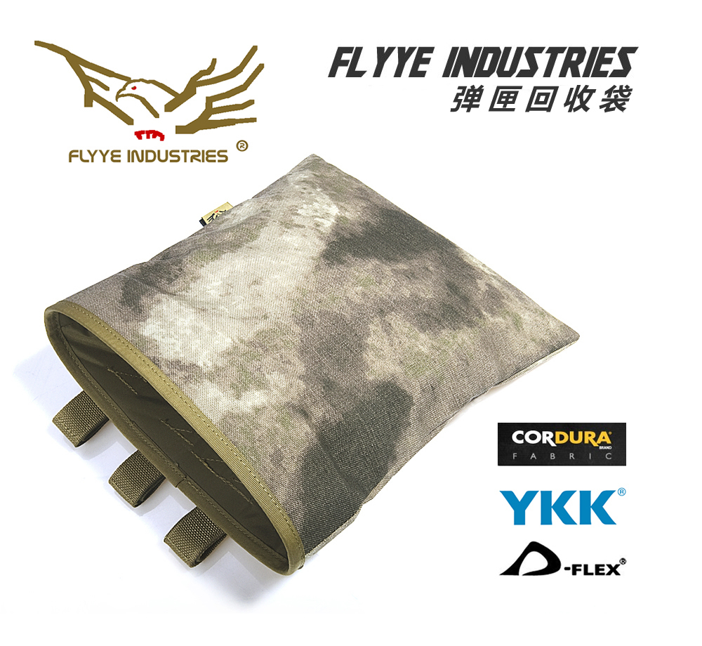 FLYYE MOLLE Magazine Drop Pouch Recovery Dump Pouch CORDURA Multicam AOR AU FG Wargame Airsoft Hunting PH-M013