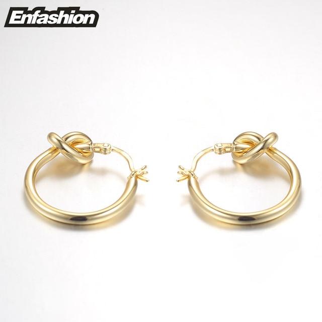 Фото оптовая продажа классические серьги кольца enfashion с узлом цена