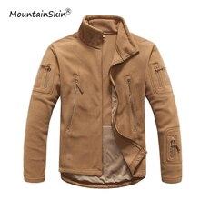 Mountainskin Autunno degli uomini Tattico Militare Giacca In Pile Caldo Outerwears Casual di Alta Qualità Cuciture Jaqueta Maschio Marca LA654
