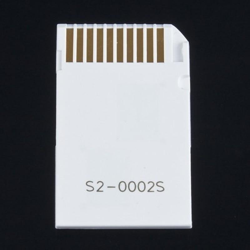 PSP כרטיס כפול 2 חריץ מיקרו זיכרון TF כדי Memory Stick Duo Pro MS מתאם עבור PSP 64MB עד 8GB TF כרטיס + זיכרון לבן ממיר Stick (3)