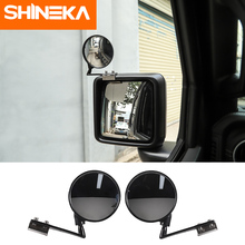 SHINEKA Mirror & Covers For Jeep Wrangler JL Car Wide-angle Rear-view Auxiliary Blind Spot Mirror For Jeep Wrangler JL 2018 Up