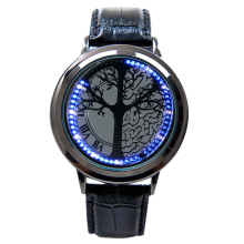 Minimalist Smart LED Watch Leather Normal Waterproof Creative Personality Tree Women Watch Electronics Casual Watches