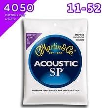 Martin MSP4050 SP Phosphor Bronze Custom Light Acoustic Guitar Strings, 011-052
