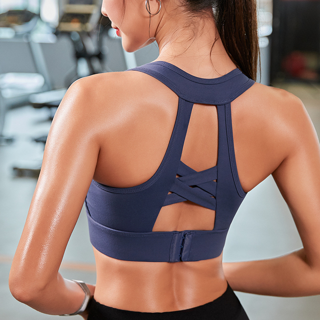 Woman Yoga Sports Bra Push Up Running Sport Top Shockproof Breathable Gym Fitness High Stretch 4