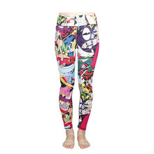 Womens High Waist Fitness YOGA Sport Pants Printed Running Stretch Leggings New