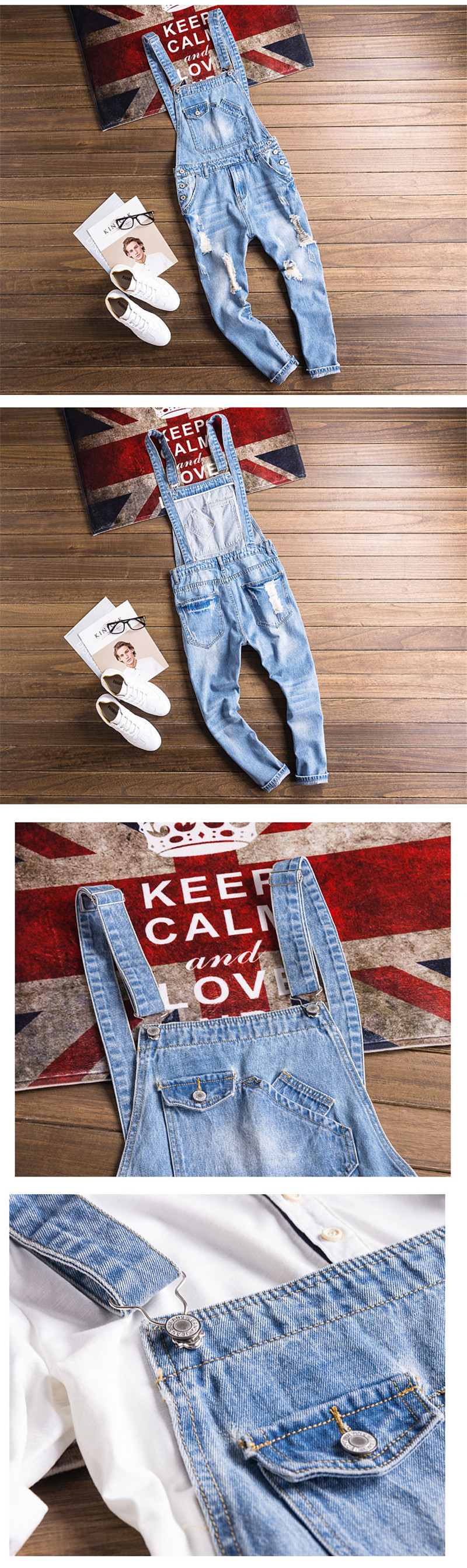 5aa72fb1702 2019 Men S Casual Loose Work Clothes Extra Large 5XL Denim Overalls ...