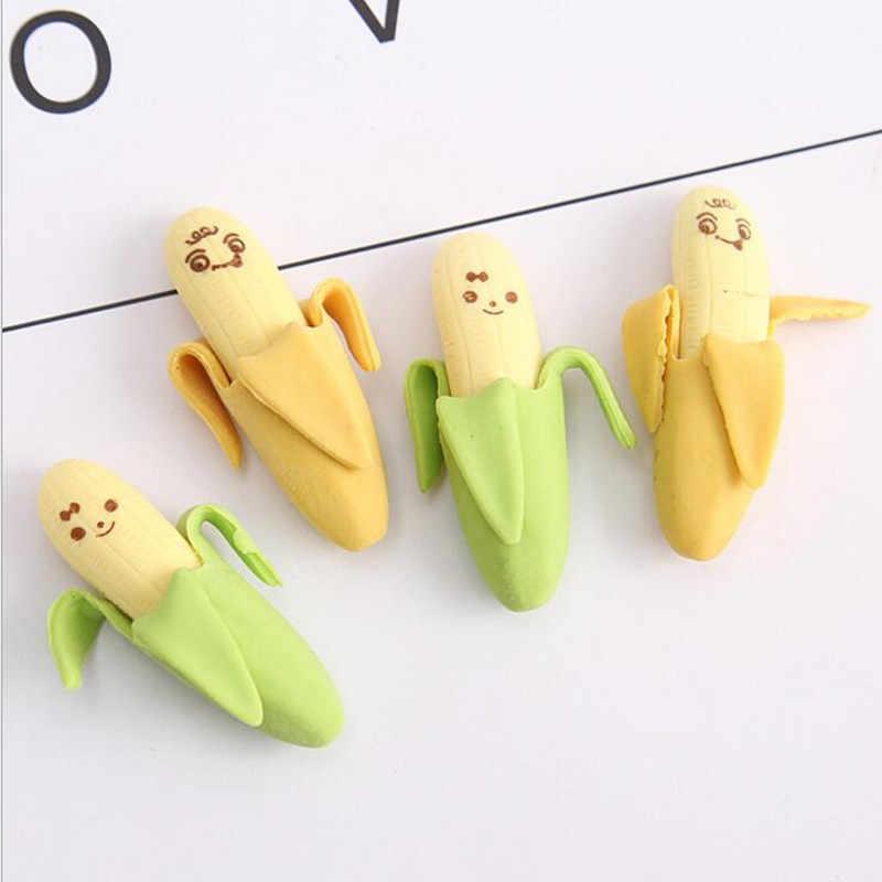 1 шт./партия новый милый каваи банан ластик новинка детские подарки фруктовый ластик школьные принадлежности