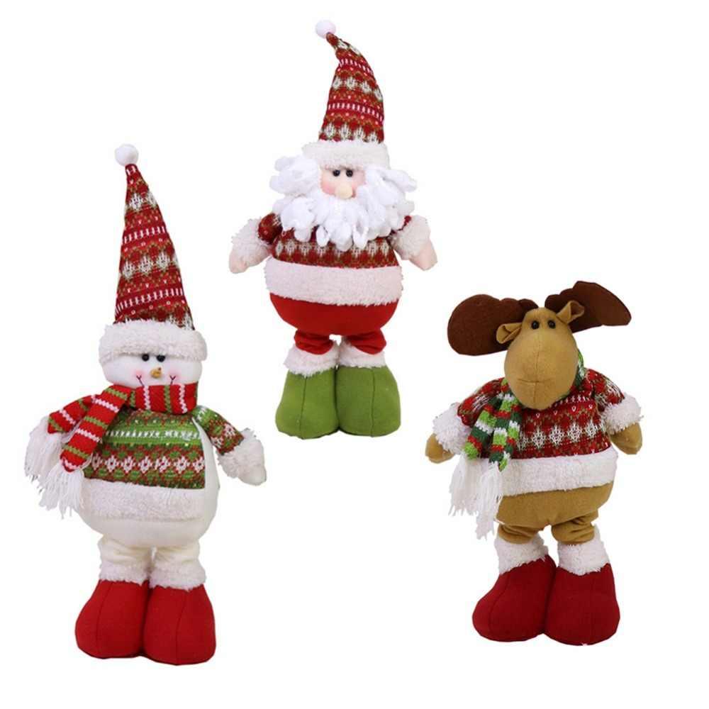 Bonecas Animais De Pelúcia Papai Noel Boneco De Neve Decorações de natal Para Casa de Pé Retrátil Brinquedo do Presente da Festa de Aniversário Crianças #254255