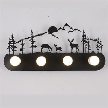 American style loft Industrial metal LED wall lamp restaurant  bedroom pony deer Santa Claus windmill wall lamp Lighting Fixture