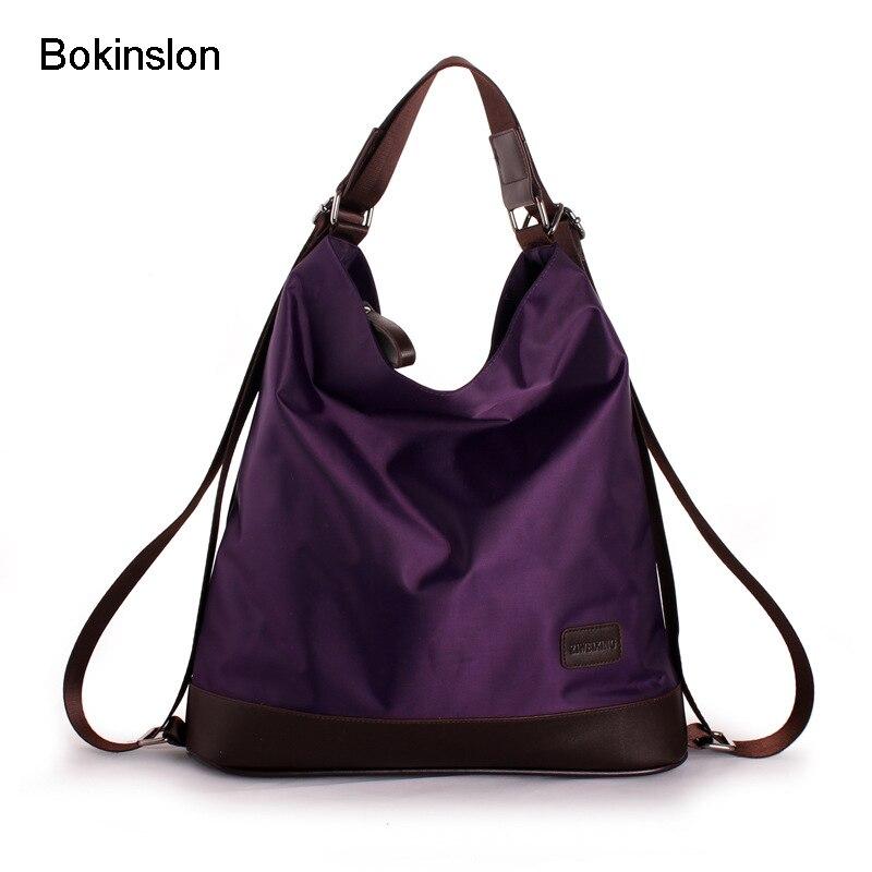 Bokinslon Women Shoulder Bags Nylon Multifunctional Woman Crossbody Bags Fashion Popular Female Bags