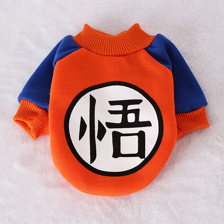 Pet Clothes For Small Dogs Warm Sweater Goku Dog Costume Chihuahua T-Shirts Winter Clothes For Dogs Game Mascot Pet Supplies