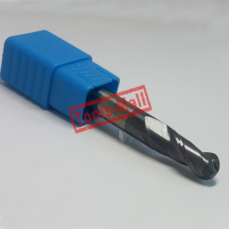 1pc radius=5mm 2 Flutes hrc60  R5*20*D10*75 solid carbide Ball nose End Mill CNC router bits tools Milling cutter 7pcs lot r0 5 r1 r1 5 r2 r2 5 r3 r4 hrc45 2 flutes ball nose end mill spiral bit milling cutter tools cnc router bits knife