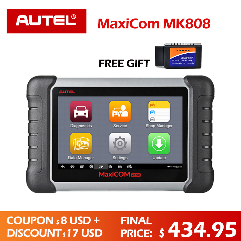 Autel MaxiCOM MK808 outil De Diagnostic MX808 Autel MK808 Automobile Scanner Clé Programmeur IMMO Code PAD Lecteur de diagnostic DS808