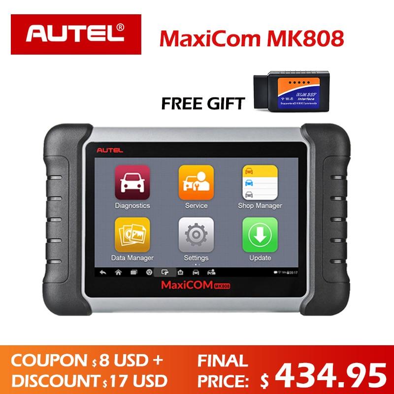 Autel MaxiCOM MK808 strumento Diagnostico MX808 Autel MK808 Automotive Scanner Programmatore Chiave IMMO Lettore di Codice diagnostico DS808