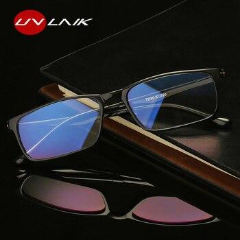 1843c80a16 UVLAIK mujeres hombres gafas de lectura de presbicia gafas TR90  transparente gafas resina lector gafas 1,0, 1,5, 2,0, 2,5, ...
