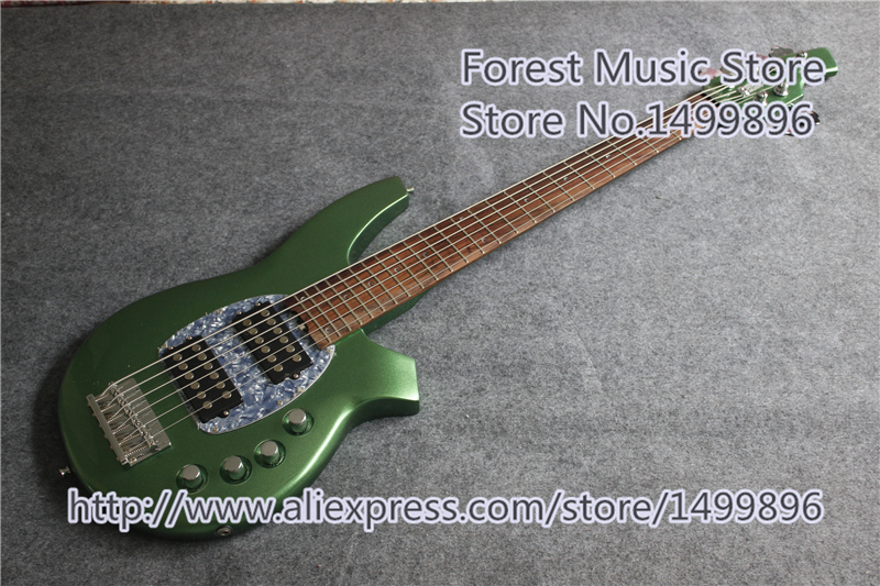 High Quality Chinese Green Bongo Electric Bass Guitar 6 String Music Man Guitar Bass In Stock стоимость