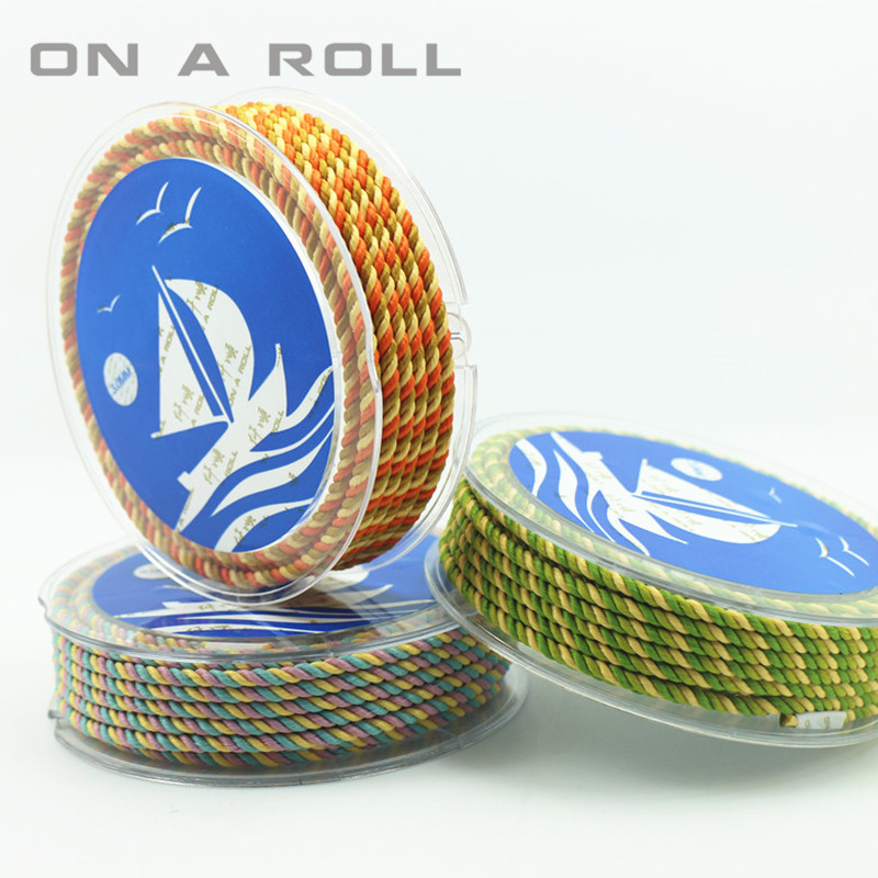 3MM color milan cord Jewelry & packing & shoes rope Necklaces & Bracelets cords 19colors 4meters/roll
