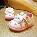 2017 spring & autumn bebê borboleta-nó de couro shoes marca de borracha meninas fundo macio desgaste princesa moda shoes para crianças, ej123