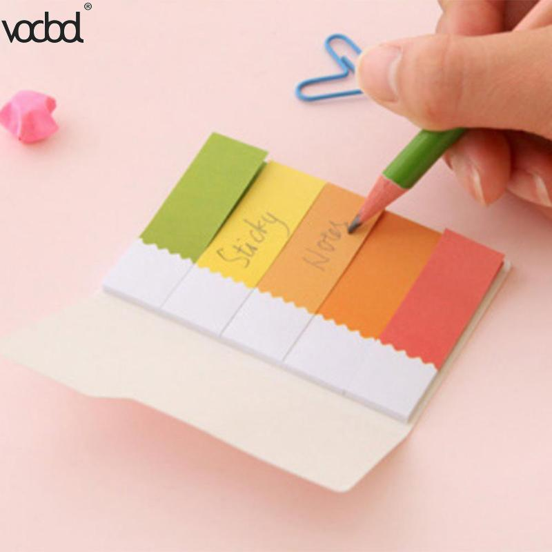 Colorful Memo Pad 100 Sheet Cute Kawaii Rainbow Post Sticky Notepad Planner Stickers Index Tag Office School Stationery Supplies