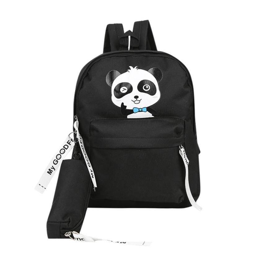 2 Pcs Teenage Backpacks Girls Canvas Backpack Leisure Student Feminine Backpack School Bagpack Girl Mochila Femininal