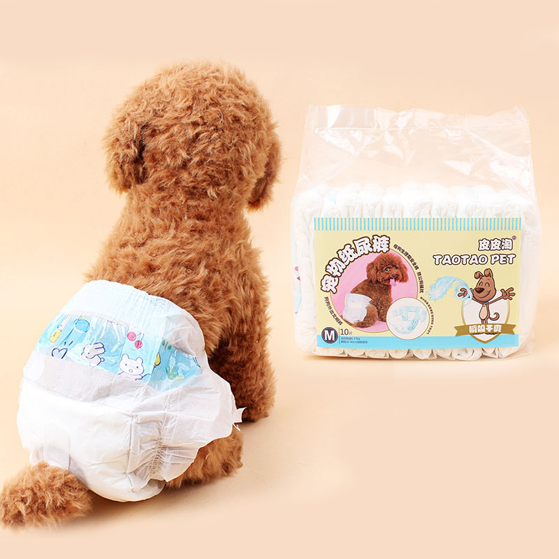 10pcs disposable Pet cat dog paper diaper Female dog puppy sanitary physiological Hygienic pants panties Short for dog XS-L