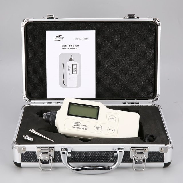Digital Vibration Meters Vibrometer Device GM63A Measures Handheld Analyzer Tester Gauge Multimeter Electric Instrument