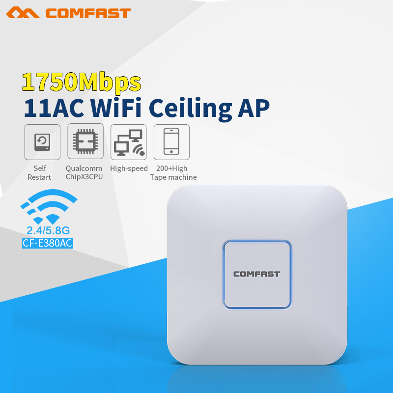 все цены на COMFAST 1750Mbps wireless Ceiling AP router 802.11AC Indoor WiFi Access Point AP with Gigabit Ethernet WAN port support openwrt онлайн